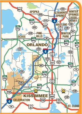 Map Of Orlando And Kissimmee Florida